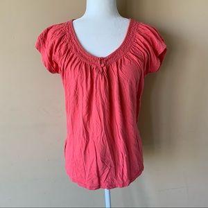 Merona Large Pink Orange Shirt Top